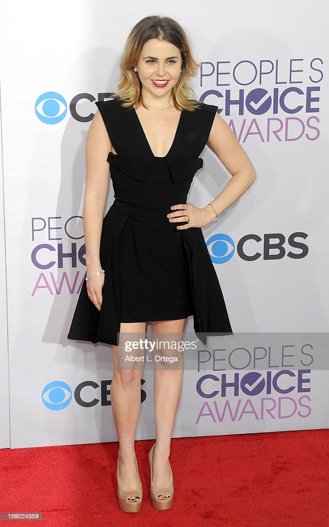 Actress Mae Whitman arrives for the 34th Annual People's Choice Awards - Arrivals held at Nokia Theater at L.A. Live on January 9, 2013 in Los Angeles, California.