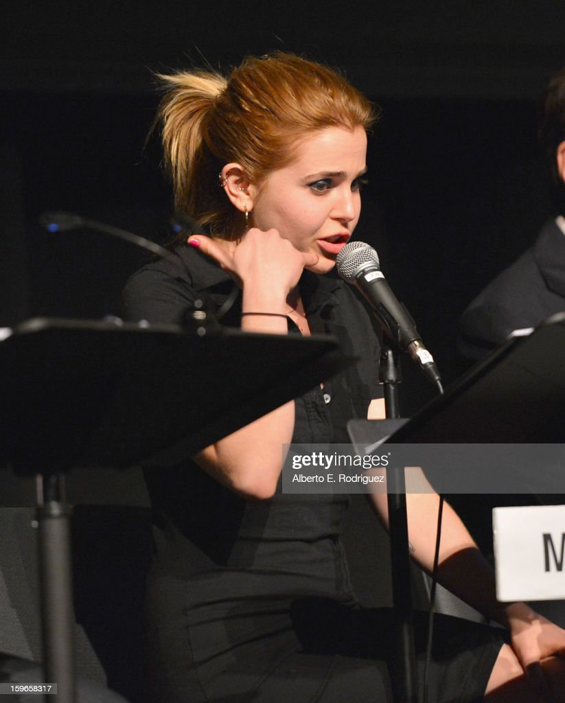 Actress Mae Whitman attends a Film Independent live read at Bing Theatre At LACMA on January 17, 2013 in Los Angeles, California.