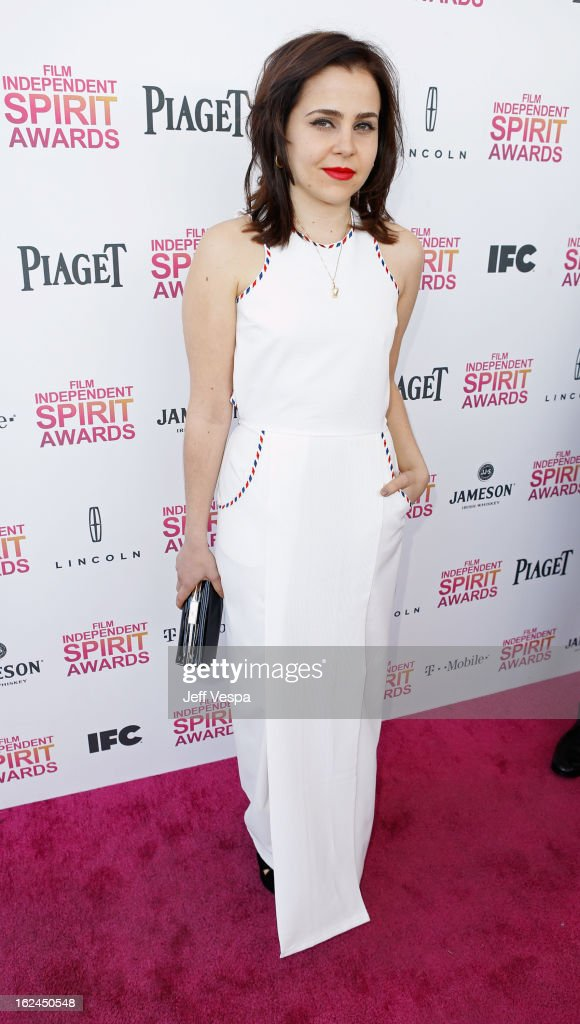 Actress Mae Whitman attends the 2013 Film Independent Spirit Awards at Santa Monica Beach on February 23, 2013 in Santa Monica, California.