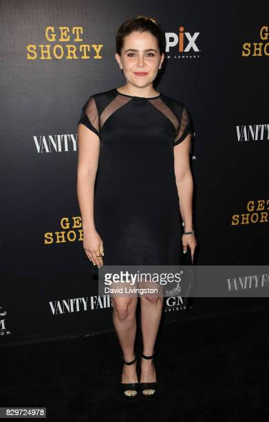 Actress Mae Whitman attends the red carpet premiere of EPIX original series 'Get Shorty' at Pacfic Design Center on August 10 2017 in West Hollywood...
