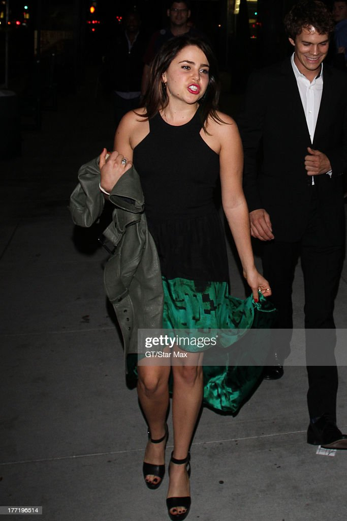Actress <a gi-track='captionPersonalityLinkClicked' href=/galleries/search?phrase=Mae+Whitman&family=editorial&specificpeople=614218 ng-click='$event.stopPropagation()'>Mae Whitman</a> is seen on August 21, 2013 in Los Angeles, California.