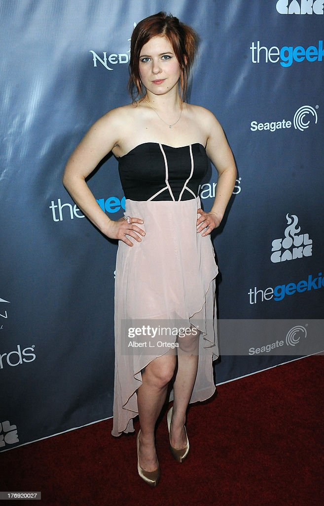 Actress Magda Apanowicz attends The 1st Annual Geekie Awards - Arrivals held at Avalon on August 18, 2013 in Hollywood, California.