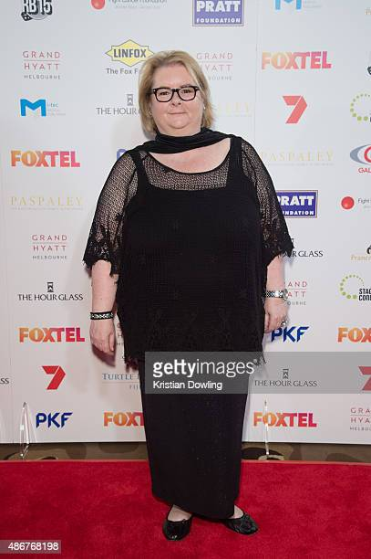 Actress Magda Szubanski arrives ahead of the Red Ball 2015 at the Grand Hyatt on September 5 2015 in Melbourne Australia
