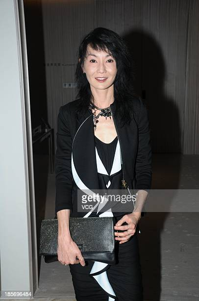 Actress Maggie Cheung attends Lane Crawford flagship store opening ceremony at Shanghai Times Square on October 23 2013 in Shanghai China