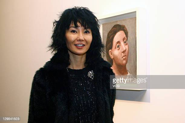 Actress Maggie Cheung attends Pablo Picasso's Works Exhibition 2011 at China Pavilion on October 17 2011 in Shanghai China