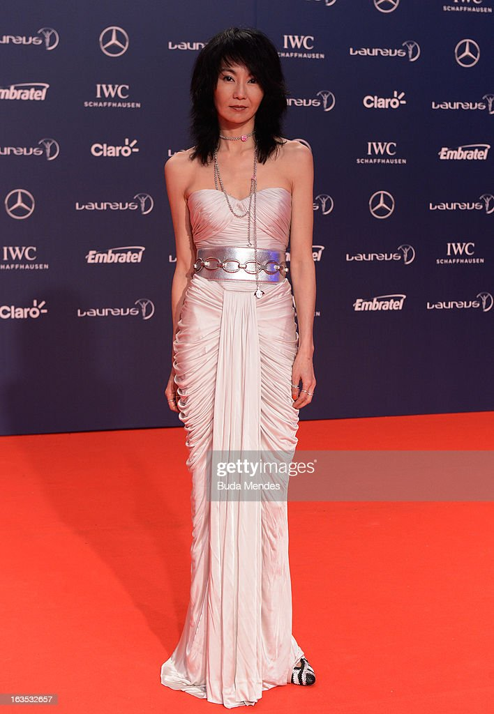 Actress Maggie Cheung attends the 2013 Laureus World Sports Awards at the Theatro Municipal Do Rio de Janeiro on March 11, 2013 in Rio de Janeiro, Brazil.