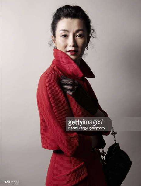 Actress Maggie Cheung is photographed for Madame Figaro on January 28 2011 in Hong Kong China Published image Figaro ID 099925002 All clothing and...