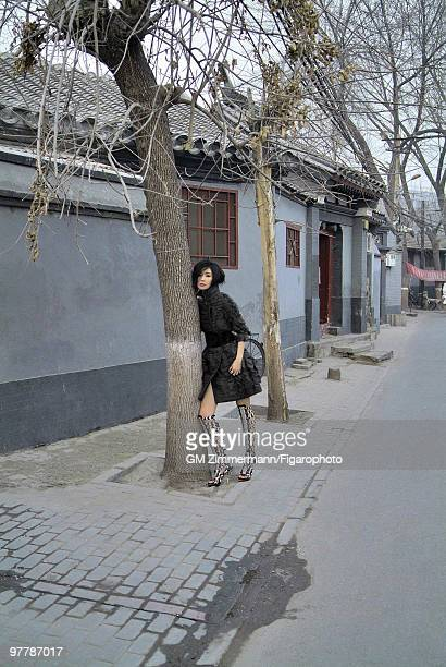 Actress Maggie Cheung poses at a portrait session in Beijing China for Madame Figaro Published image CREDIT MUST READ Gilles Marie...