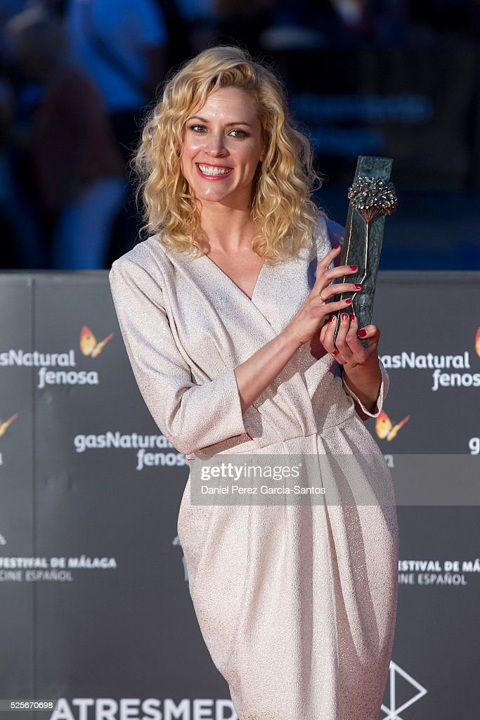 Actress Maggie Civantos attends 'La Ultima Piel' premiere at the Cervantes Teather during the 19th Malaga Film Festival on April 28, 2016 in Malaga, Spain.