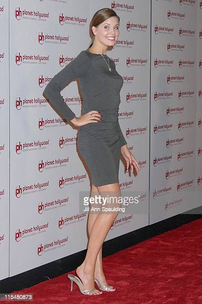 Actress Maggie Grace arrives at Jon Stewart's performance at Planet Hollywood Resort Casino's Grand Opening Weekend on November 16 2007 in Las Vegas...