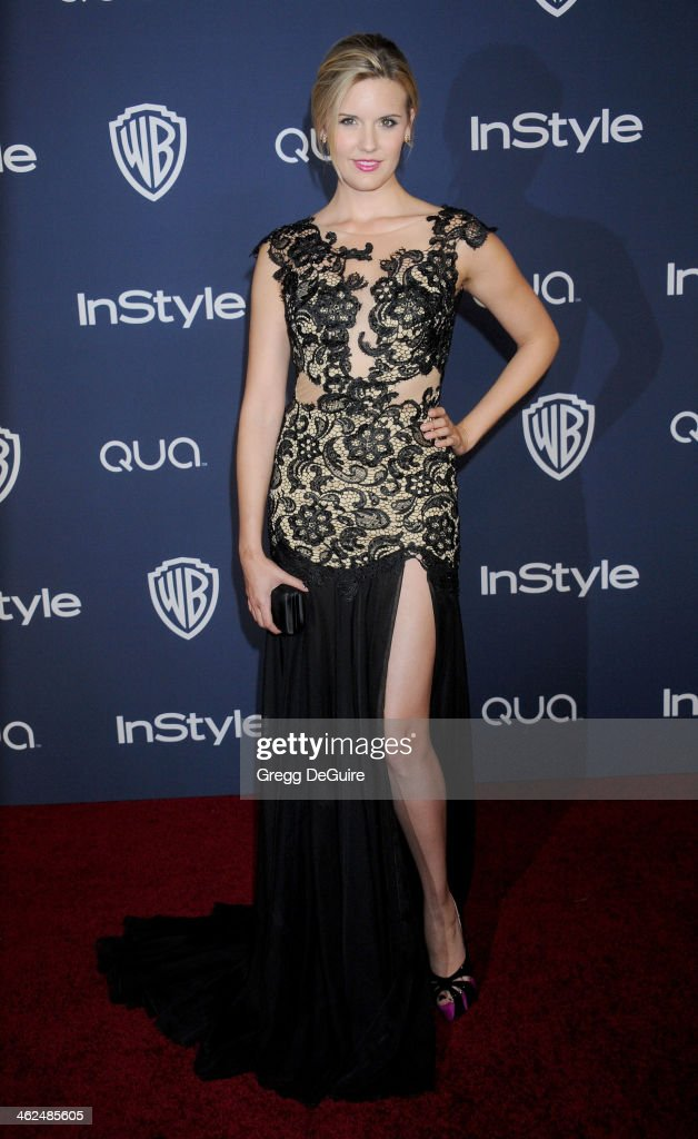 Actress Maggie Grace arrives at the 2014 InStyle And Warner Bros. 71st Annual Golden Globe Awards post-party at The Beverly Hilton Hotel on January 12, 2014 in Beverly Hills, California.