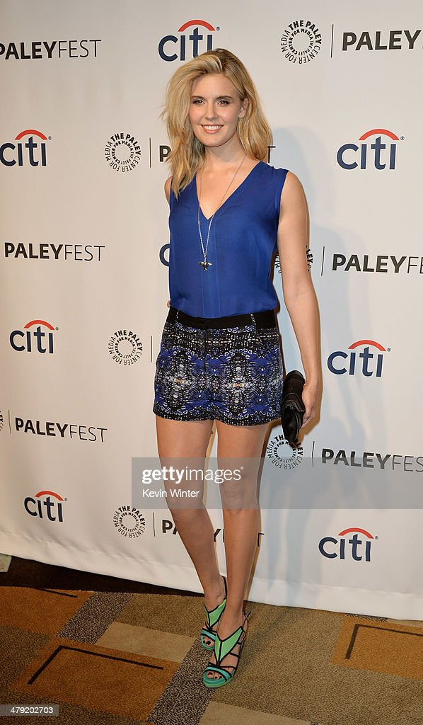 Actress <a gi-track='captionPersonalityLinkClicked' href=/galleries/search?phrase=Maggie+Grace&family=editorial&specificpeople=213706 ng-click='$event.stopPropagation()'>Maggie Grace</a> arrives at The Paley Center Media's PaleyFest 2014 Honoring 'Lost' 10th Anniversary Reunion at the Dolby Theatre on March 16, 2014 in Los Angeles, California.