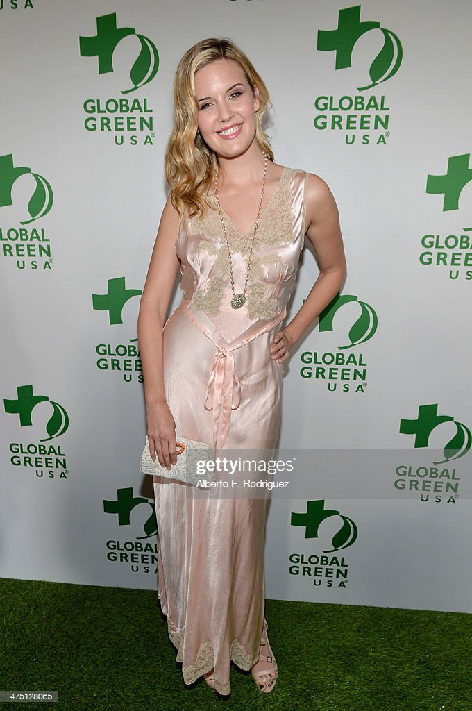 Actress <a gi-track='captionPersonalityLinkClicked' href=/galleries/search?phrase=Maggie+Grace&family=editorial&specificpeople=213706 ng-click='$event.stopPropagation()'>Maggie Grace</a> attends Global Green USA's 11th Annual Pre-Oscar party at Avalon on February 26, 2014 in Hollywood, California.