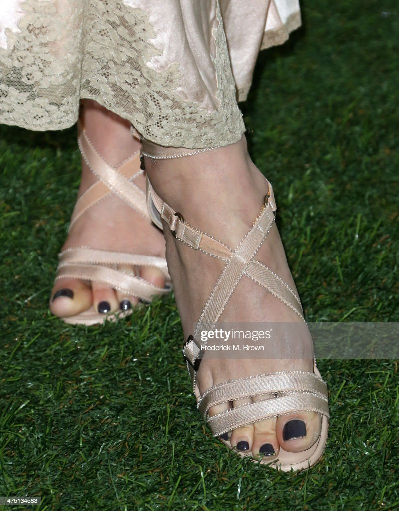 Actress Maggie Grace (shoe detail) attends Global Green USA's 11th Annual Pre-Oscar party at Avalon on February 26, 2014 in Hollywood, California.