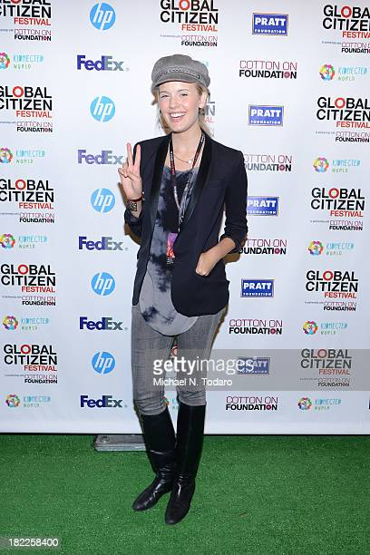 Actress Maggie Grace attends the 2013 Global Citizen Festival to end extreme poverty in Central Park on September 28 2013 in New York City New York