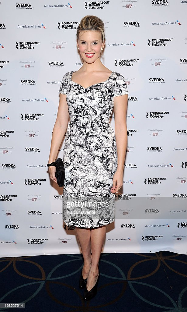 Actress Maggie Grace attends the 2013 Roundabout Theatre Company Spring Gala at Hammerstein Ballroom on March 11, 2013 in New York City.