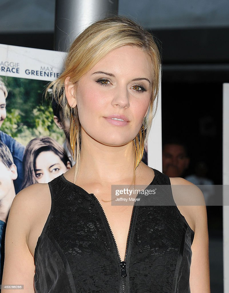 Actress Maggie Grace attends the 'About Alex' Los Angeles premiere held at the Arclight Theater on August 6, 2014 in Hollywood, California.