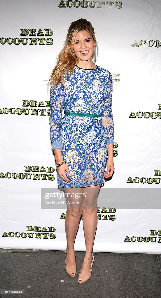 Actress Maggie Grace attends the 'Dead Accounts' Broadway opening night arrivals and curtain call at the Music Box Theatre on November 29, 2012 in New York City.
