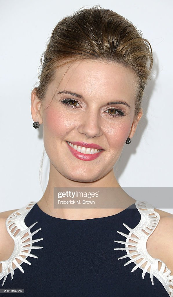 Actress Maggie Grace attends the Global Green USA's 13th Annual Pre-Oscar Party at the Mr. C Beverly Hills Hotel on February 24, 2016 in Beverly Hills, California.