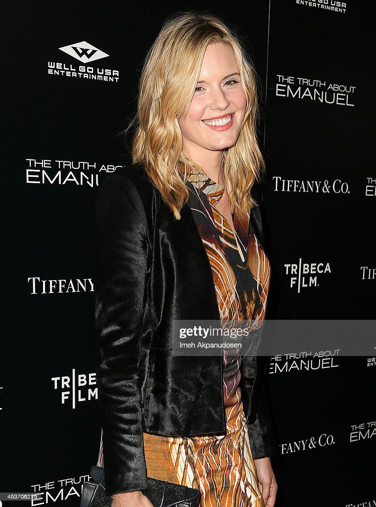Actress <a gi-track='captionPersonalityLinkClicked' href=/galleries/search?phrase=Maggie+Grace&family=editorial&specificpeople=213706 ng-click='$event.stopPropagation()'>Maggie Grace</a> attends the premiere of Tribeca Film and Well Go USA's 'The Truth About Emanuel' at ArcLight Hollywood on December 4, 2013 in Hollywood, California.