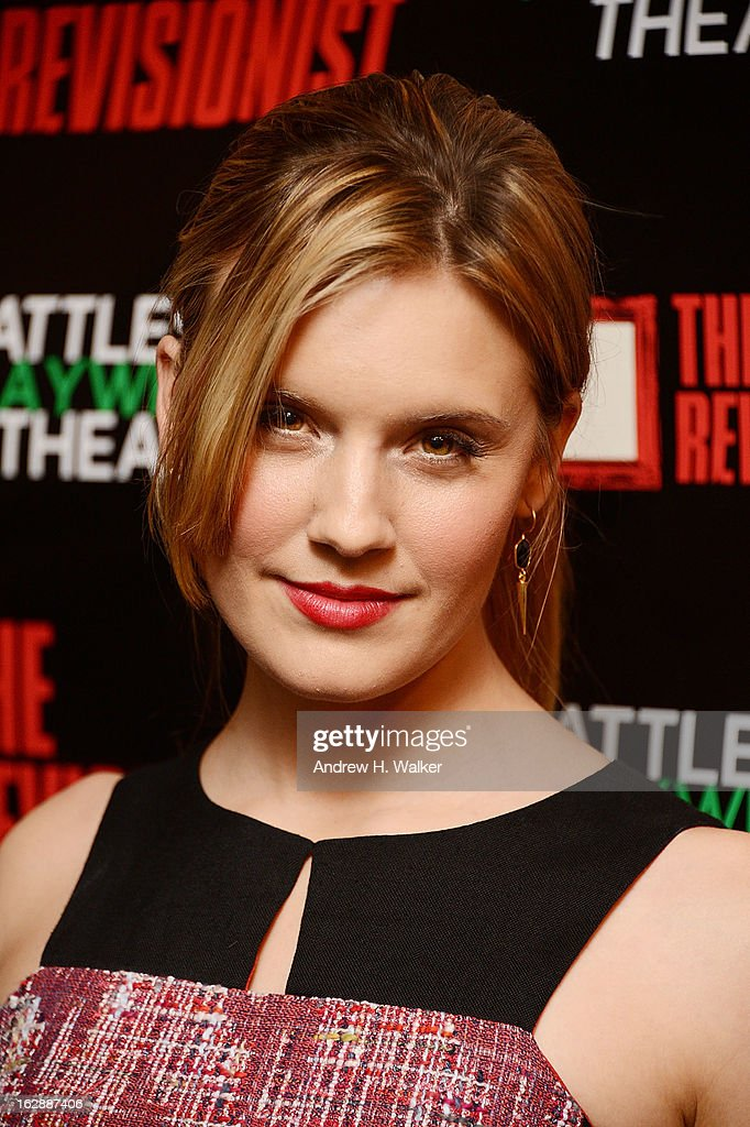 Actress Maggie Grace attends 'The Revisionist' opening night at Cherry Lane Theatre on February 28, 2013 in New York City.