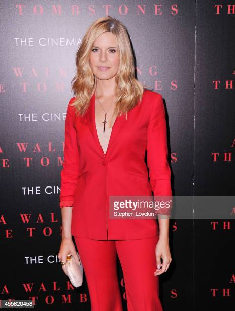 Actress Maggie Grace attends the Universal Pictures and Cross Creek Pictures with The Cinema Society screening of 'A Walk Among the Tombstones' at...