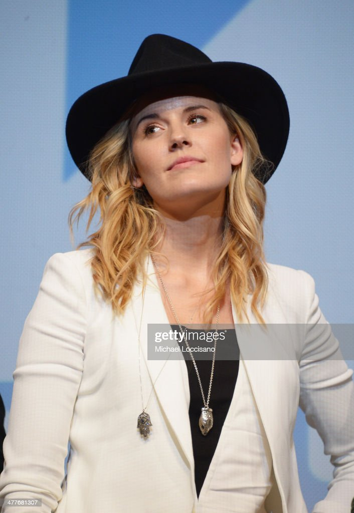 Actress <a gi-track='captionPersonalityLinkClicked' href=/galleries/search?phrase=Maggie+Grace&family=editorial&specificpeople=213706 ng-click='$event.stopPropagation()'>Maggie Grace</a> takes part in a Q&A following the 'We'll Never Have Paris' premiere during the 2014 SXSW Music, Film + Interactive Festival at the Topfer Theatre at ZACH on March 10, 2014 in Austin, Texas.