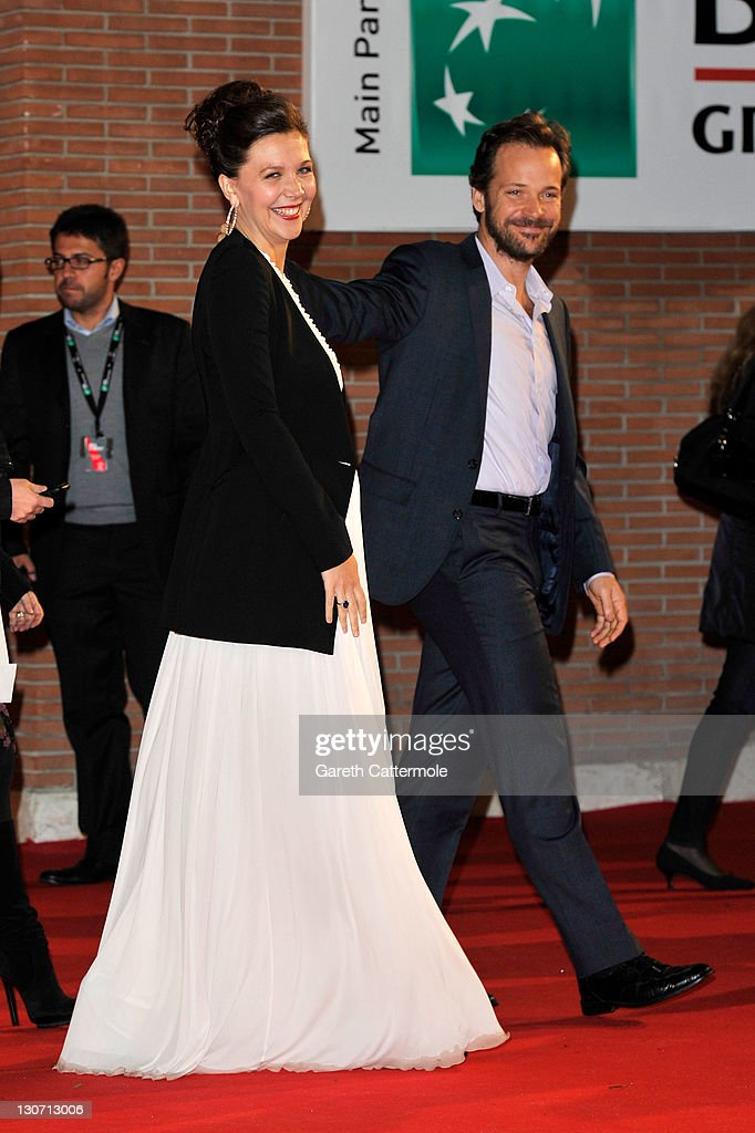 Actress Maggie Gyllenhaal and actor Peter Sarsgaard attend the 'Hysteria' Premiere during the 6th International Rome Film Festival on October 28, 2011 in Rome, Italy.