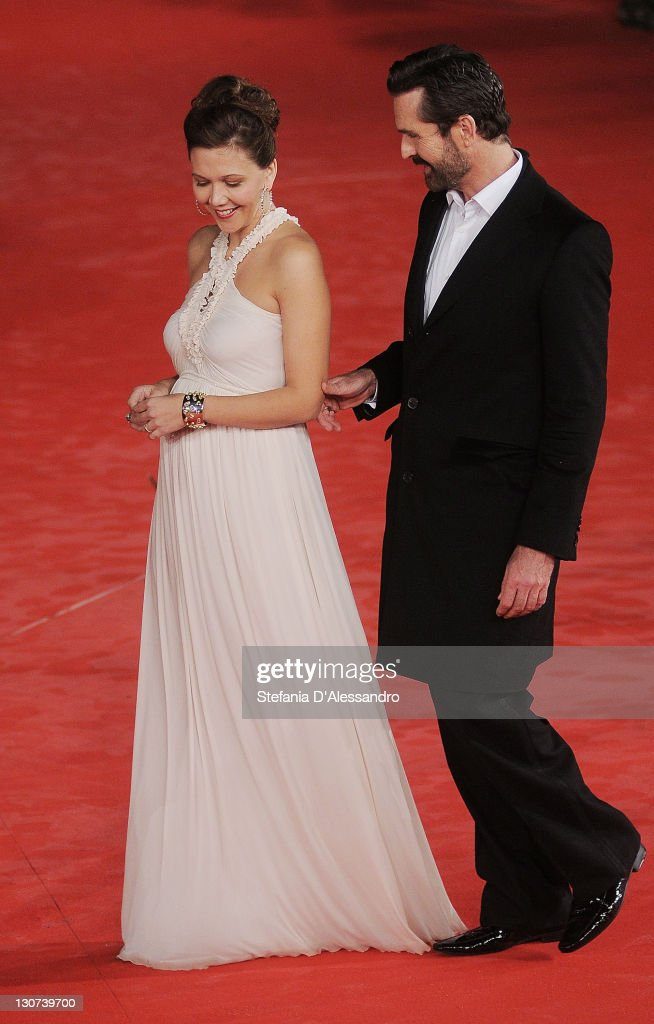 Actress Maggie Gyllenhaal and actor Rupert Everett attend the 'Hysteria' Premiere during the 6th International Rome Film Festival on October 28, 2011 in Rome, Italy.