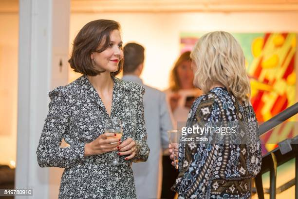 Actress Maggie Gyllenhaal and Amanda Altree at Autograph Collection Hotels' exclusive screening of 'Gemini' on September 19 2017 in Boston...