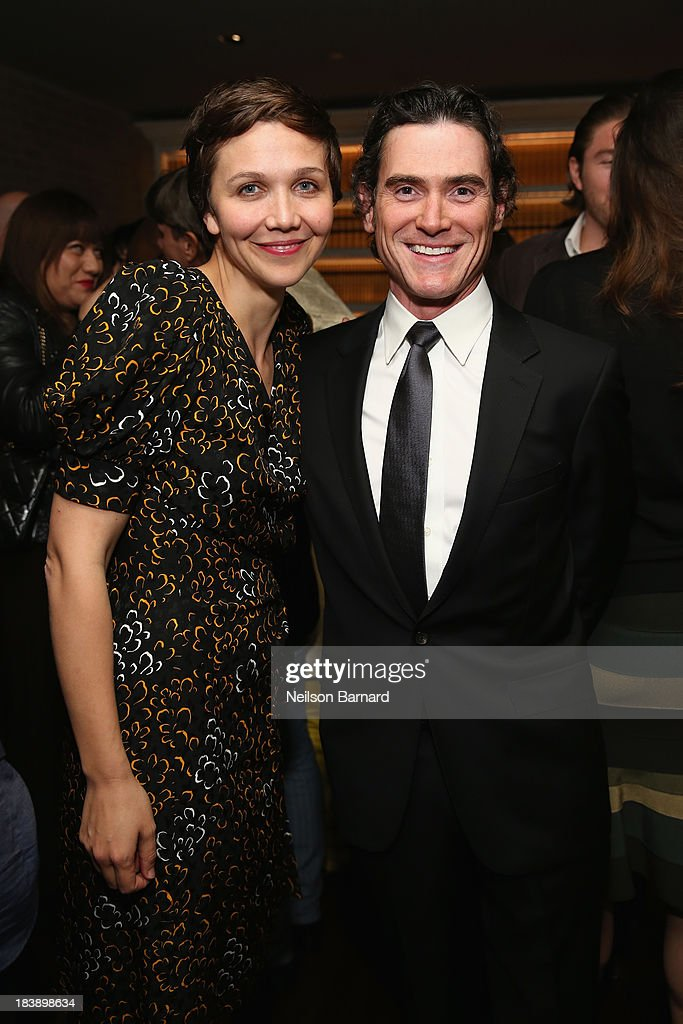 Actress <a gi-track='captionPersonalityLinkClicked' href=/galleries/search?phrase=Maggie+Gyllenhaal&family=editorial&specificpeople=202607 ng-click='$event.stopPropagation()'>Maggie Gyllenhaal</a> and <a gi-track='captionPersonalityLinkClicked' href=/galleries/search?phrase=Billy+Crudup&family=editorial&specificpeople=204698 ng-click='$event.stopPropagation()'>Billy Crudup</a> attend The Lunchbox Fund Fall Fête at Buddakan, New York on October 9, 2013 in New York City.