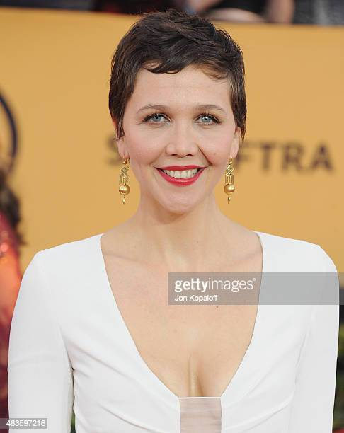 Actress Maggie Gyllenhaal arrives at the 21st Annual Screen Actors Guild Awards at The Shrine Auditorium on January 25 2015 in Los Angeles California