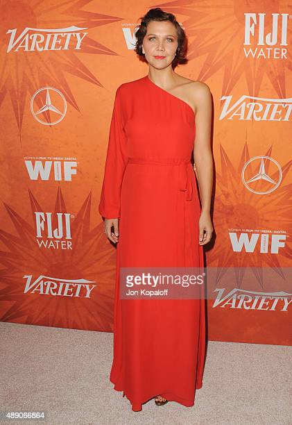 Actress Maggie Gyllenhaal arrives at the Variety And Women In Film Annual PreEmmy Celebration at Gracias Madre on September 18 2015 in West Hollywood...