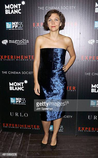 Actress Maggie Gyllenhaal attends Montblanc The Cinema Society host a party for The New York Film Festival premiere of Magnolia Pictures'...