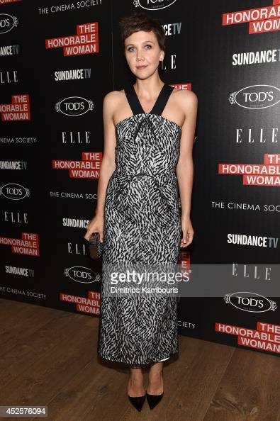 Actress Maggie Gyllenhaal attends Sundance TV's 'The Honourable Woman' screening hosted by The Cinema Society with Tod's And Elle at the Crosby...