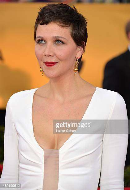 Actress Maggie Gyllenhaal attends the 21st Annual Screen Actors Guild Awards at The Shrine Auditorium on January 25 2015 in Los Angeles California