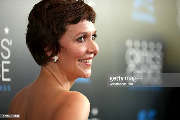 Actress Maggie Gyllenhaal attends the 5th Annual Critics' Choice Television Awards at The Beverly Hilton Hotel on May 31 2015 in Beverly Hills...