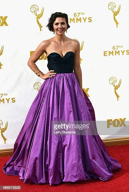 Actress Maggie Gyllenhaal attends the 67th Annual Primetime Emmy Awards at Microsoft Theater on September 20 2015 in Los Angeles California