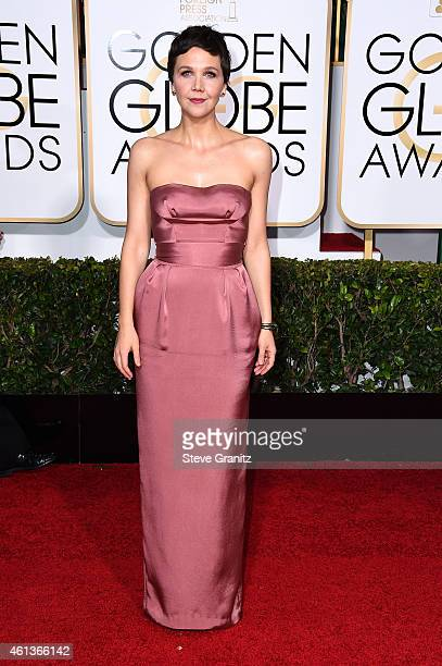 Actress Maggie Gyllenhaal attends the 72nd Annual Golden Globe Awards at The Beverly Hilton Hotel on January 11 2015 in Beverly Hills California