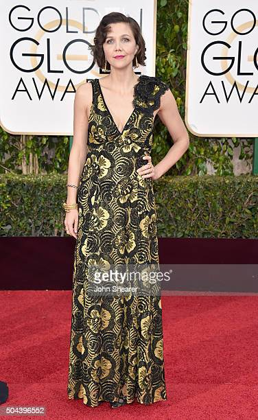 Actress Maggie Gyllenhaal attends the 73rd Annual Golden Globe Awards held at the Beverly Hilton Hotel on January 10 2016 in Beverly Hills California