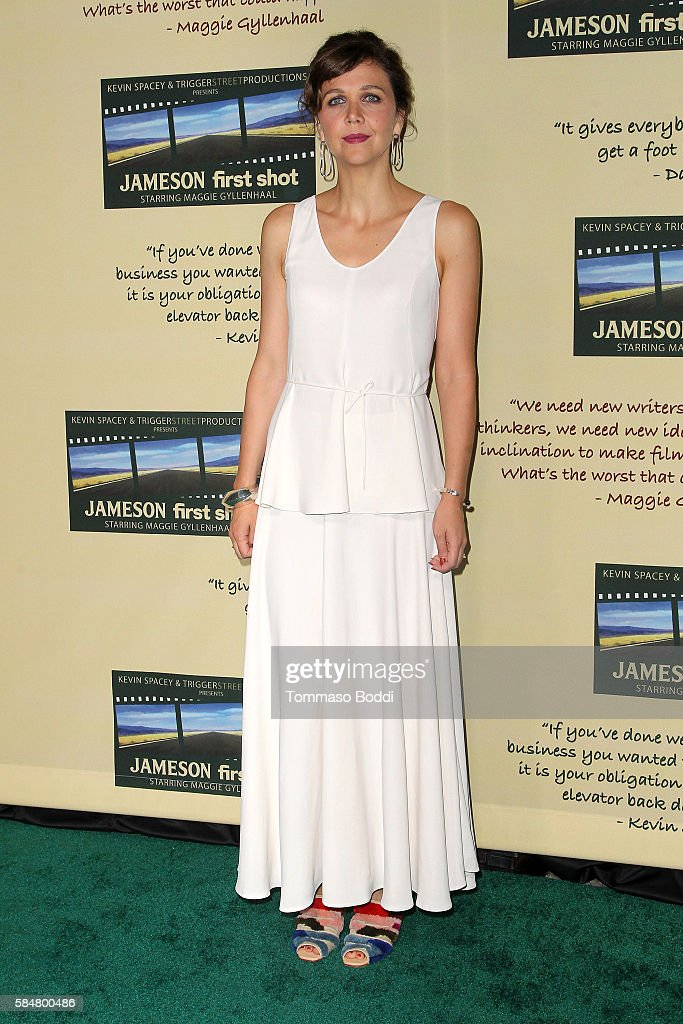 Actress Maggie Gyllenhaal attends the Jameson's 'First Shot' Competition Screening Party at Paramount Studios on July 30 2016 in Hollywood California