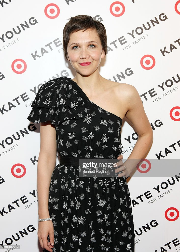 Actress Maggie Gyllenhaal attends the Kate Young For Target Launch at The Old School NYC on April 9, 2013 in New York City.