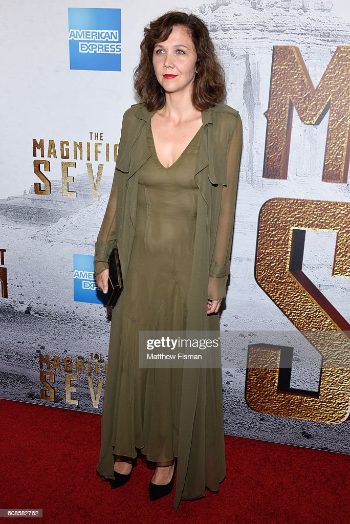 Actress Maggie Gyllenhaal attends 'The Magnificent Seven' New York Premiere at the Museum of Modern Art on September 19, 2016 in New York City.