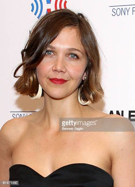 Actress Maggie Gyllenhaal attends the New York premiere of 'An Education' at the Paris Theatre on October 5 2009 in New York City