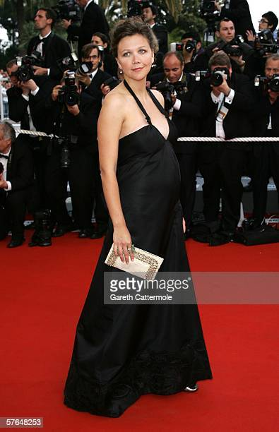 Actress Maggie Gyllenhaal attends the 'Paris Je T'aime' premiere during the 59th International Cannes Film Festival on May 18 2006 in Cannes France