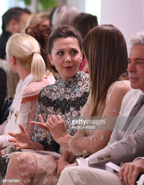 Actress Maggie Gyllenhaal attends the Valentino Resort 2018 runway show on May 23 2017 in New York City / AFP PHOTO / ANGELA WEISS