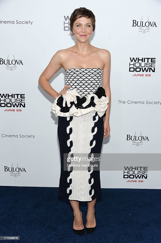 Actress Maggie Gyllenhaal attends the 'White House Down' New York premiere at Ziegfeld Theater on June 25, 2013 in New York City.