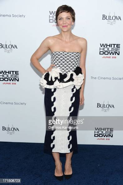Actress Maggie Gyllenhaal attends the 'White House Down' New York premiere at Ziegfeld Theater on June 25 2013 in New York City