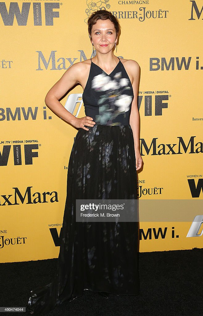 Actress <a gi-track='captionPersonalityLinkClicked' href=/galleries/search?phrase=Maggie+Gyllenhaal&family=editorial&specificpeople=202607 ng-click='$event.stopPropagation()'>Maggie Gyllenhaal</a> attends the Women In Film, Los Angeles Presents the 2014 Crystal + Lucy Awards at the Hyatt Regency Century Plaza Hotel on June 11, 2014 in Century City, California.