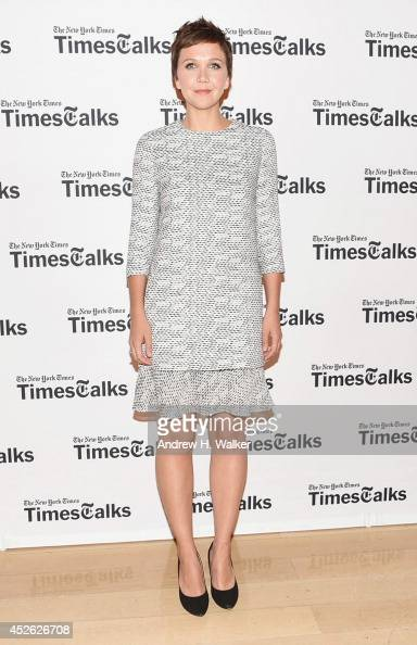 Actress Maggie Gyllenhaal attends 'TimesTalks' at Times Center on July 24 2014 in New York City